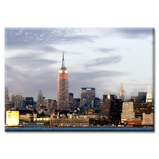 Empire Lights at Sunset New York Photo Magnet