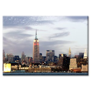 Empire Lights at Sunset New York Photo Magnet
