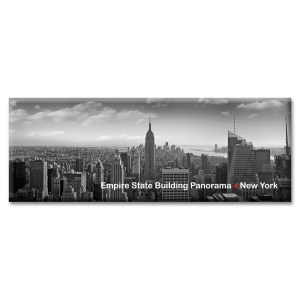 Empire State Building Panoramic New York Photo Magnet