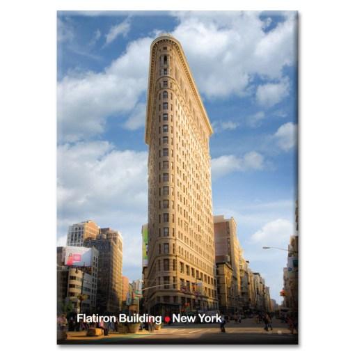 Flatiron Building New York Photo Magnet at NY Christmas Gifts