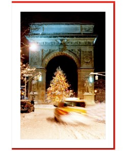 Washington Arch Christmas Tree - Handmade Photo Card