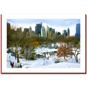 Wollman Rink Panorama - Handmade Photo Card