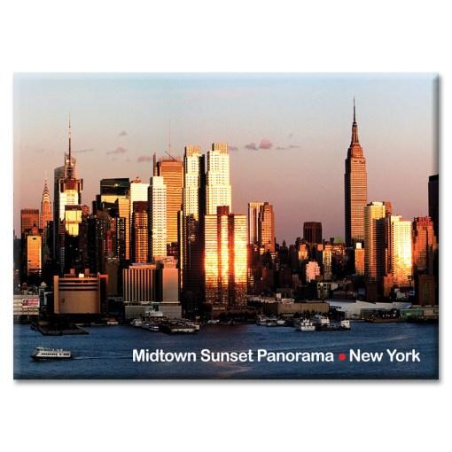 Midtown Sunset Panorama New York Photo Magnet