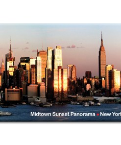 Midtown Sunset Panorama New York Photo Magnet