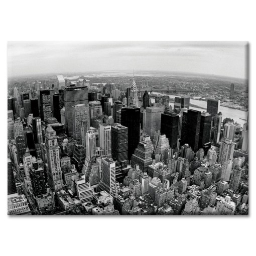 Midtown Skyline Panorama New York Photo Magnet
