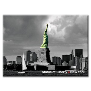 Statue of Liberty and Downtown New York Photo Magnet from NY Christmas Gifts