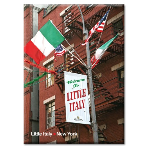 Welcome to Little Italy New York Photo Magnet from NY Christmas Gifts