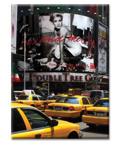 Yellow Cabs on Times Square I New York Photo Magnet