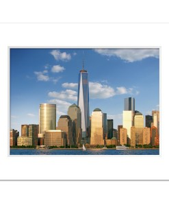 1WTC Freedom Tower Downtown New York Art Prints Poster MP1103 Color Mat White