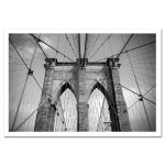Brooklyn Bridge Ropes Horizontal New York Art Print Poster