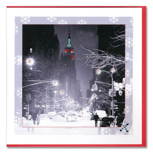 Empire State Building Christmas Lights HHC9306 Handmade Card from NY Christmas Gifts