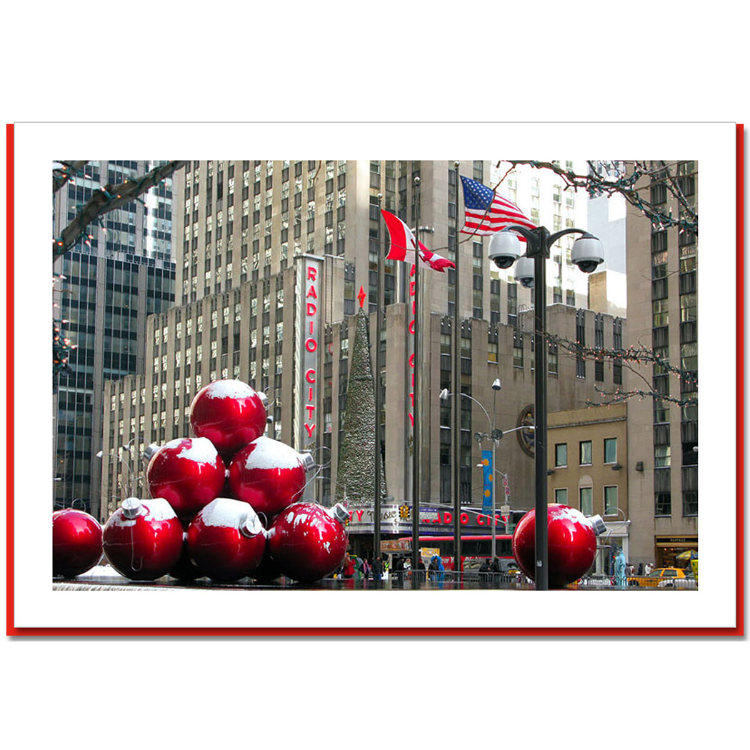 Christmas Ornaments in New York City – NY Christmas Photo Card