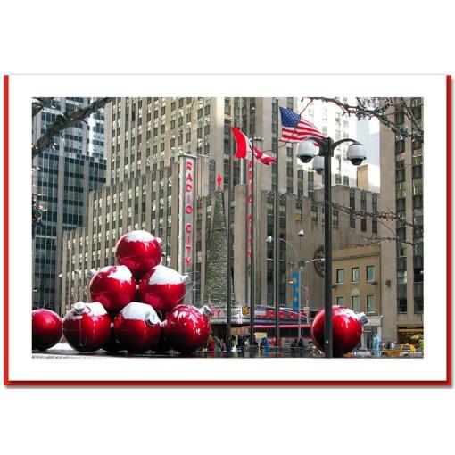 Radio City Christmas Decoration At Radio City Hall Handmade Christmas Card - HPC-2886