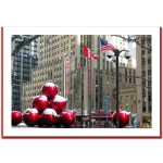 Radio City Christmas Decoration At Radio City Hall Handmade Christmas Card – HPC-2886