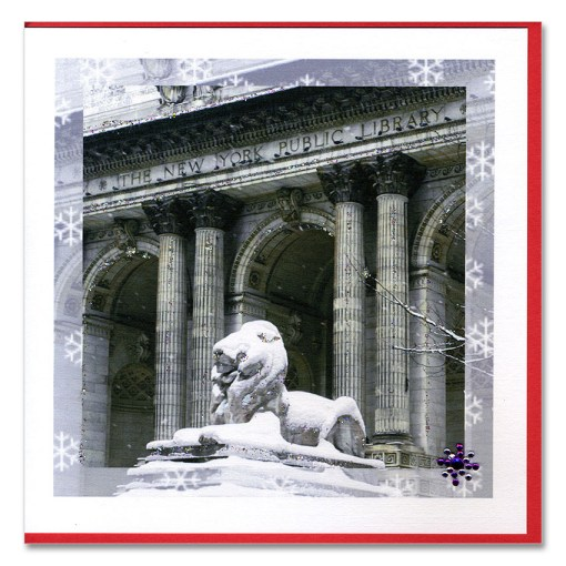 New York Public Library Handmade Card HHC9939 from NY Christmas Gifts