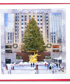 Rockefeller Center Skating Rink Handmade Card HHC9956 from NY Christmas Gifts