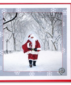 Santa on Poet Lane in Central Park Handmade Cards HHC9975 Santa on Christopher Street Greenwich Village Handmade Card HHC9357 from NY Christmas Gifts
