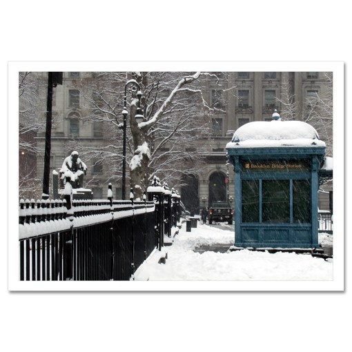 Brooklyn Bridge Subway Station Art Print Poster MP-1445