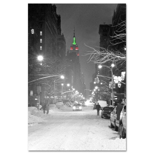 Empire State Building Christmas New York Art Print MP-1149