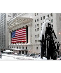 George Washington Wall Street Winter Art Print MP-2116