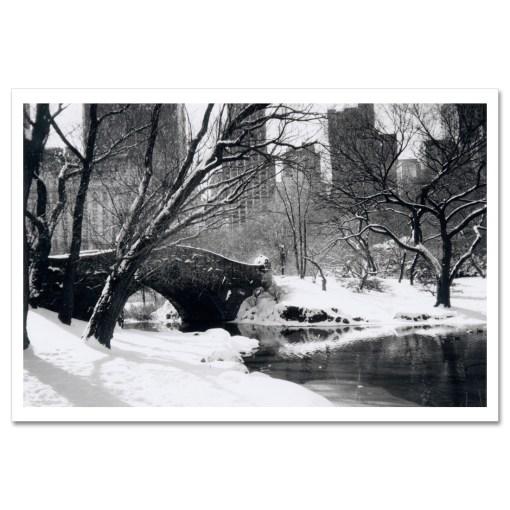 Love Bridge Central Park New York Black White Art Print Poster NY MP-1006 Black Mat