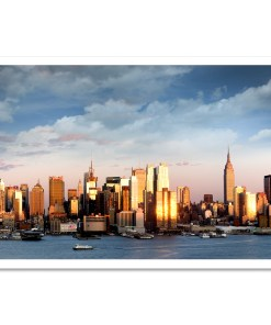 Midtown Sunset Panorama Art Print Poster NYC MP-2134