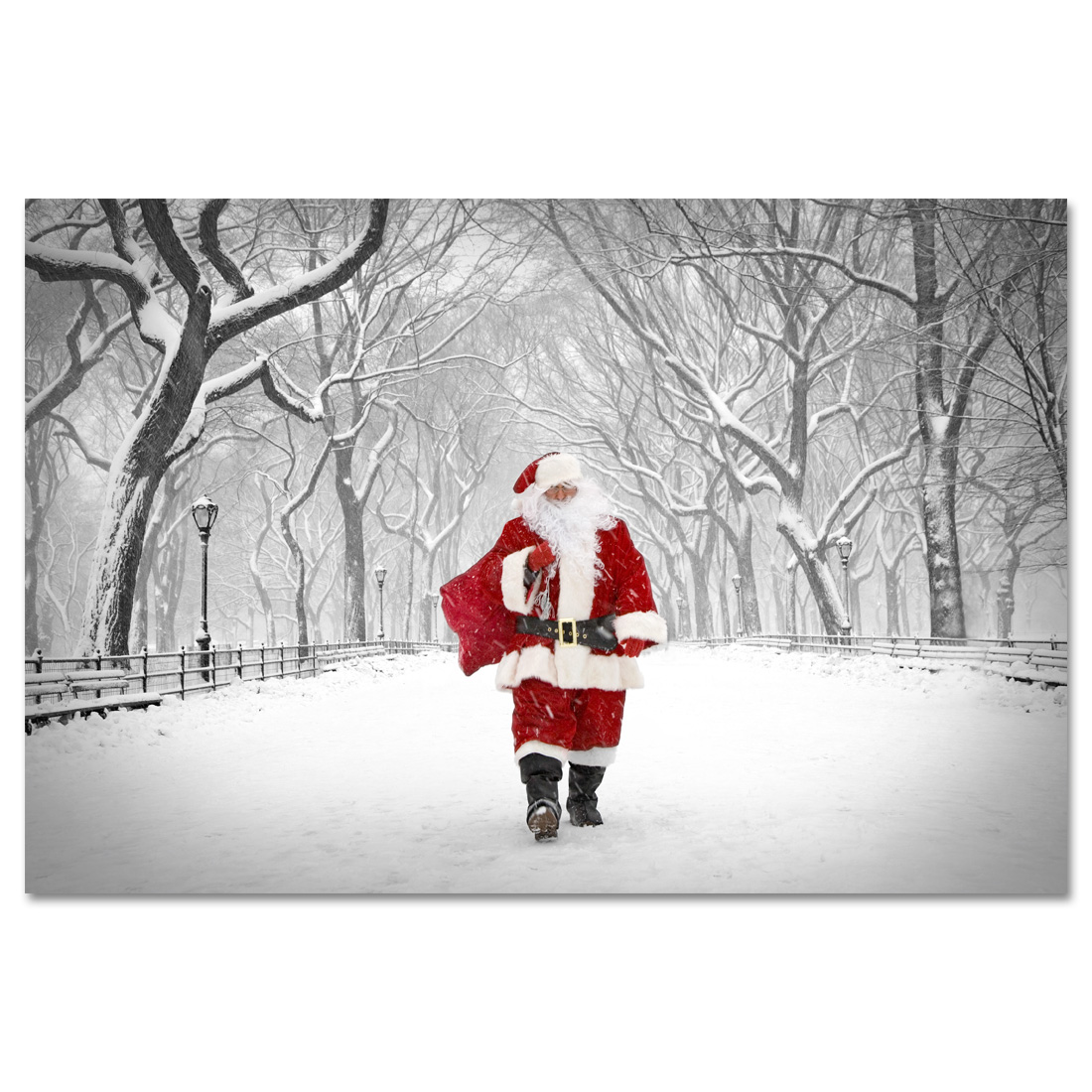 Santa On Poet Walk Central Park New York Art Print MP 1173