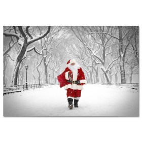 Santa on Poet Walk in Central Park Art Print MP1173