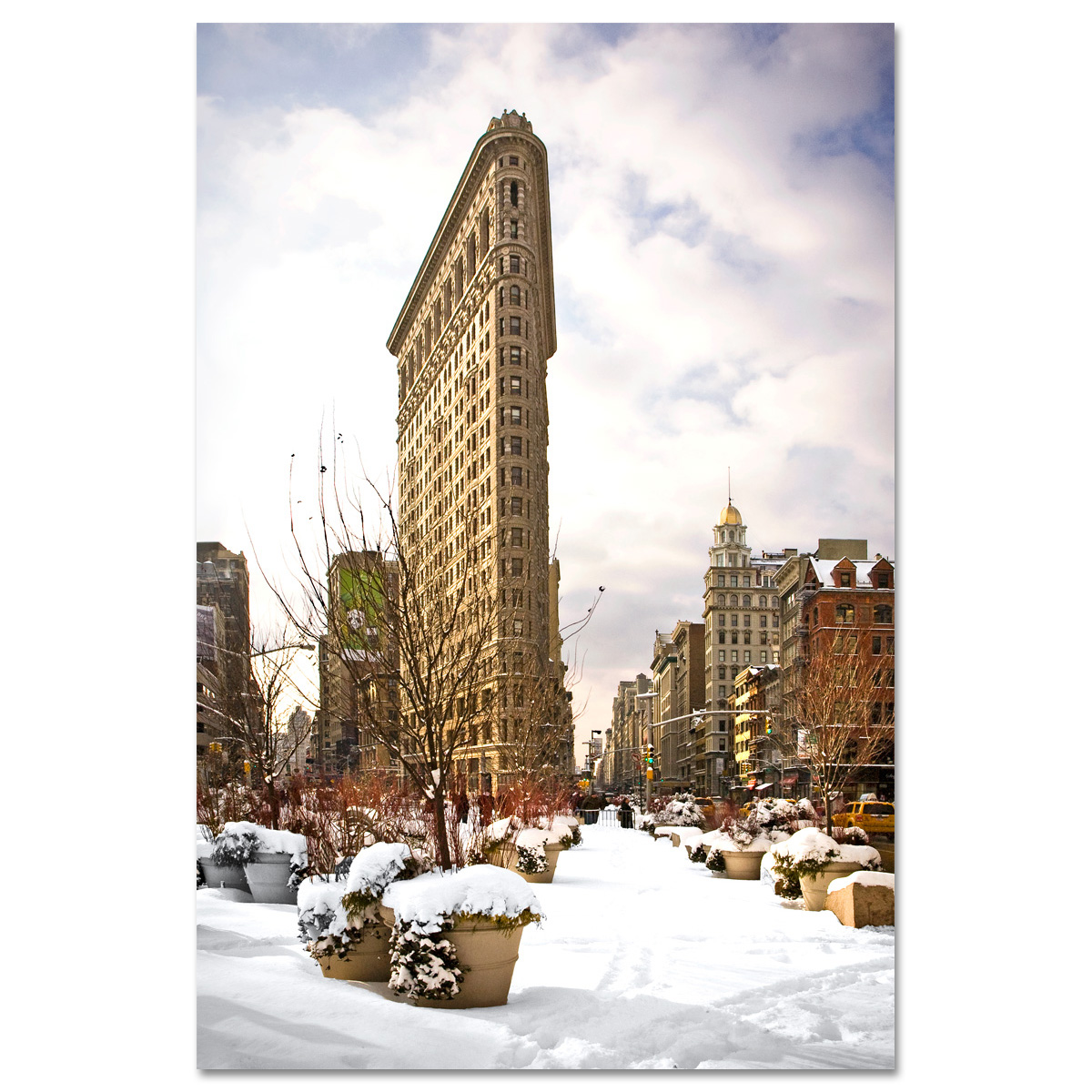 Flatiron Building Winter New York Art Print Mp 1025 Ny