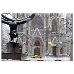 St Patricks Cathedral Christmas New York Art Print MP-1440