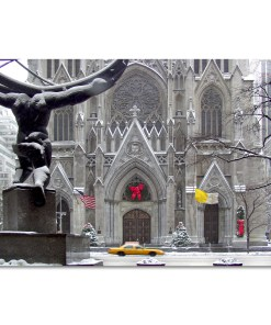 St Patricks Cathedral Christmas Art Print MP-1440