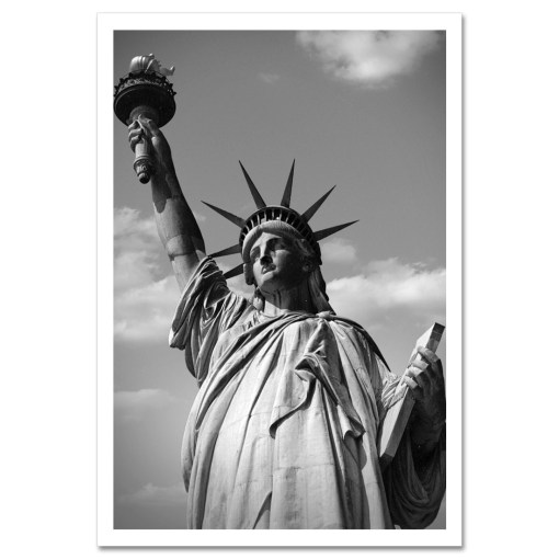 Statue of Liberty Black and White Art Print Poster MP-1170