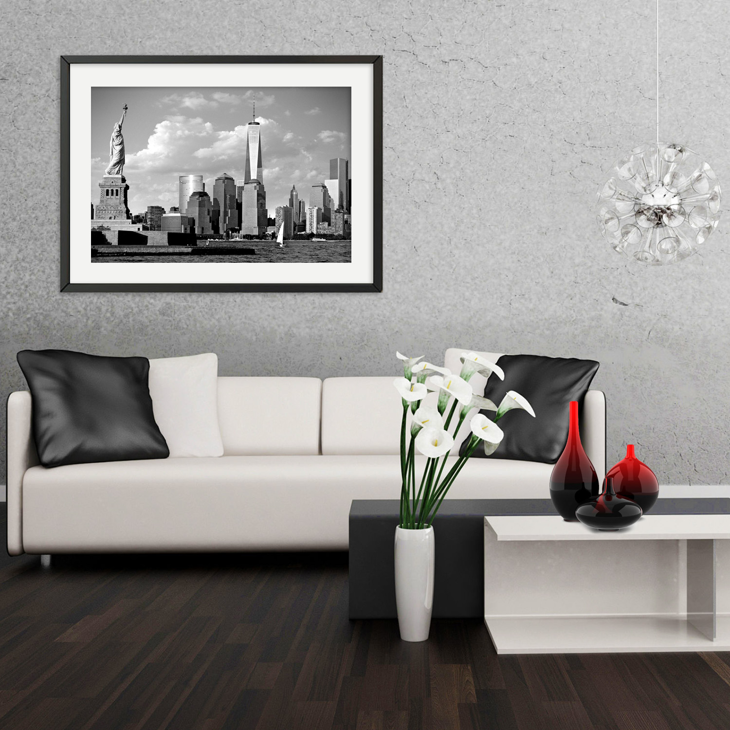 Statue Of Liberty And Freedom Tower New York Art Print Ny Christmas Gifts