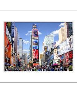 Times Square Panorama Art Print Poster MP-1229 White Mat