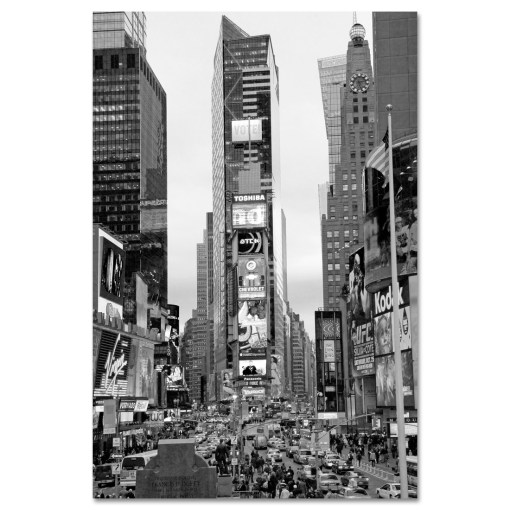 Times Square South New York BW Art Print MP-1032