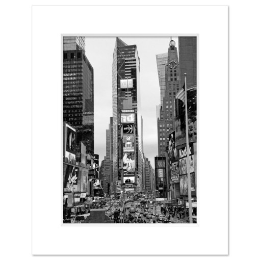 Times Square South New York BW Art Print Poster MP-1032 Mat White