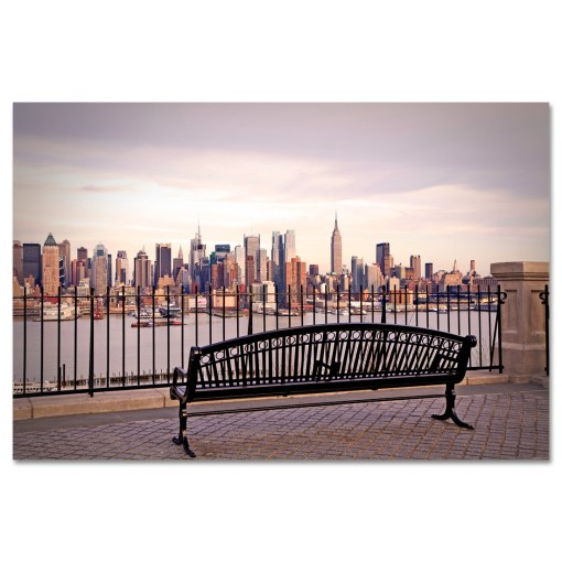 View from Bench Midtown Manhattan New York Art Print MP-2132