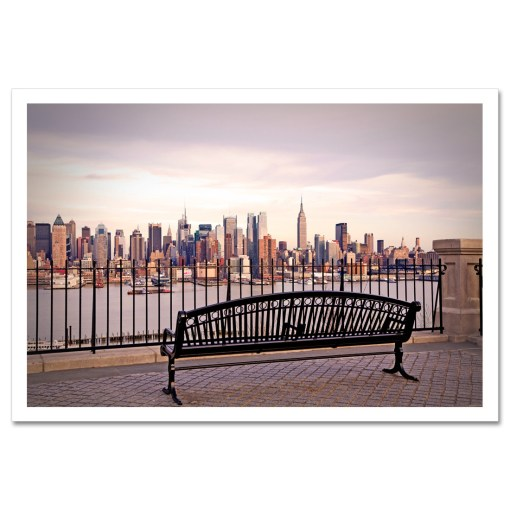 View from Bench Midtown Manhattan New York Art Print Poster MP-2132