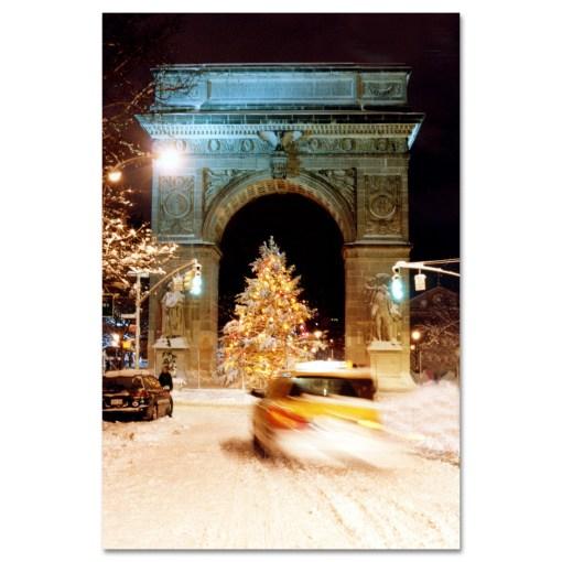 Washington Arch Christmas Tree New York Art Print MP-1902