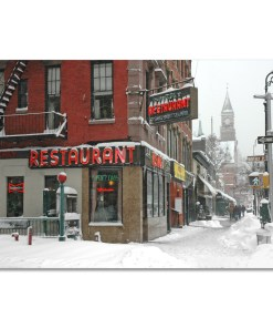 Waverly Restaurant Winter Art Print MP-1413