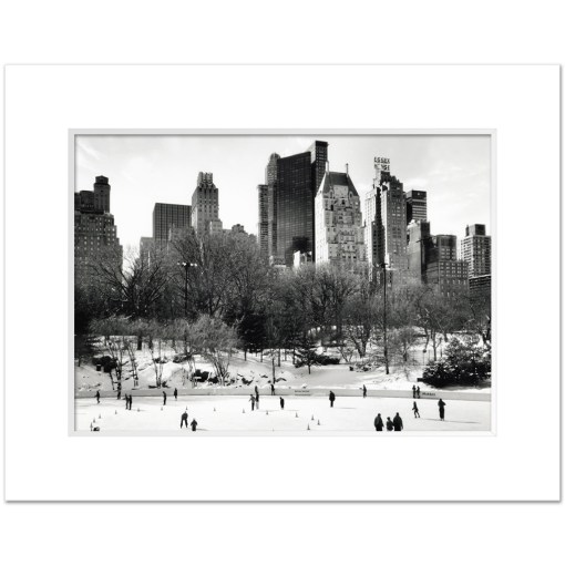 Wollman Rink Panorama Central Park Art Print Poster MP-1042 White Mat
