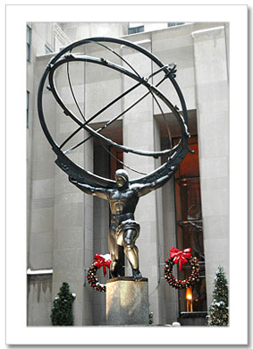 Atlas Rockefeller Center NY Christmas Card HPC-2938