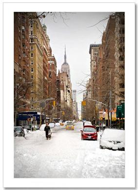 Blizzard on Fifth Ave Washington Arch NY Christmas Card HPC-2307