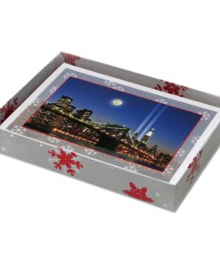 Brooklyn Bridge WTC Memorial Lights NY Christmas Cards CGC8004 box