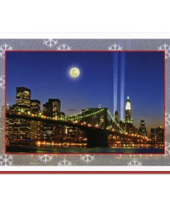 Brooklyn Bridge WTC Memorial Lights NY Christmas Cards CGC8004