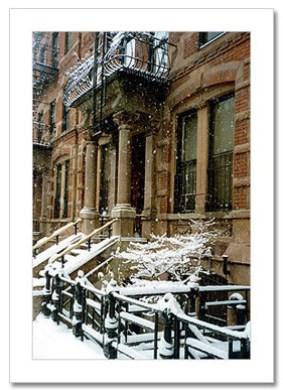 Brownstone Winter NY Christmas Card HPC-2915