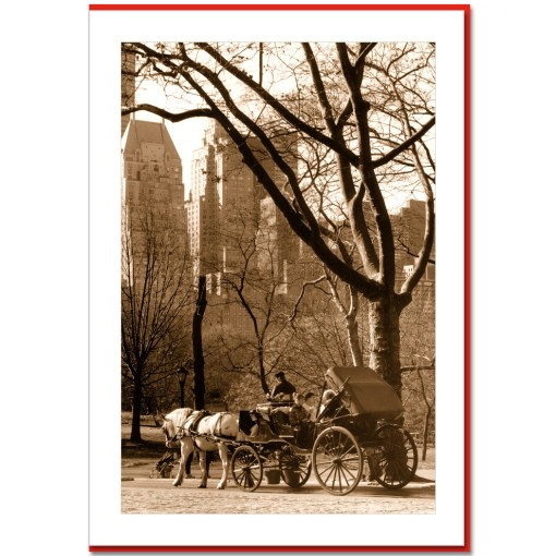 Carriage Ride in Central Park Handmade Photo Card HPC2316