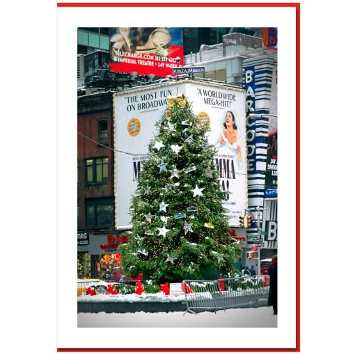 Chrihristmas Tree on Times Square NY Christmas Card HPC2460