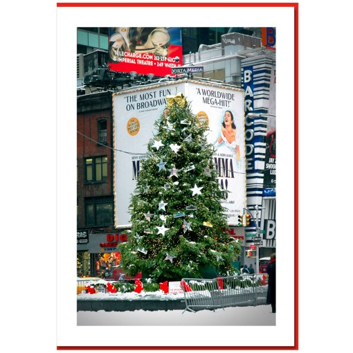 Chrihristmas Tree on Times Square NY Christmas Card HPC2460