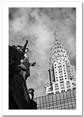 Chrysler Building Grand Central NY Christmas Card HPC-2070